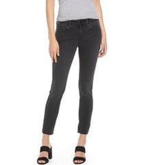 mavi jeans alexa mid rise skinny jeans, size 33 28 in dark smoke supersoft at nordstrom