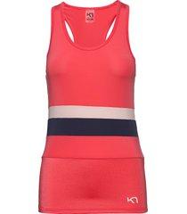 caro top t-shirts & tops sleeveless röd kari traa