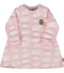 moschino pink dress with clouds for baby girl