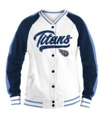 5th and ocean tennessee titans women's button-up vintage jacket