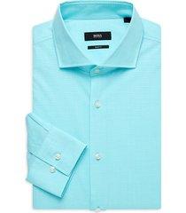 boss hugo boss men's jason slim-fit dress shirt - blue - size 17