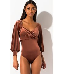 akira my love velvet off the shoulder bodysuit