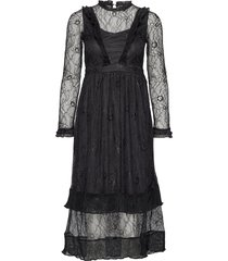 yascarolina lace dress ft jurk knielengte zwart yas