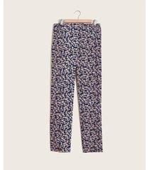 pantalón estampado flores