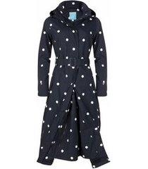 happyrainydays regenjas long raincoat beth black white