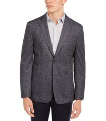 bar iii men's slim-fit textured gray knit sport coat, created for macy's