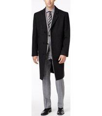 london fog big and tall signature wool-blend overcoat