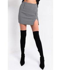 akira kika mini skirt with a front slit