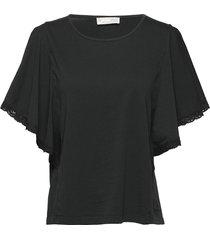 flowy top t-shirts & tops short-sleeved svart odd molly