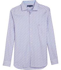 camisa dudalina manga longa fio tinto maquinetado xadrez masculina (azul medio, 7)