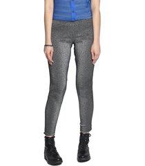 legging energia fashion metalizada preto/prata - preto - feminino - poliamida - dafiti
