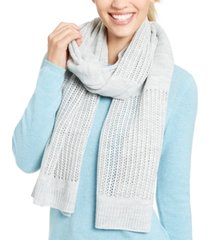 dkny open-knit blocked scarf