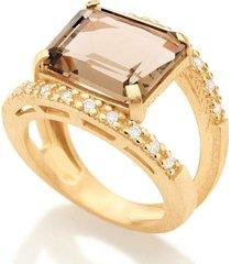 anel com pedra rommanel