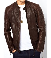 handmade mens brown slipfit leather jacket, mens fashion brown leather jacket
