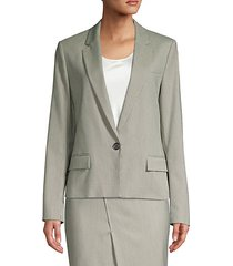 jasaela wool-blend one-button houndstooth jacket