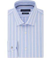 tommy hilfiger men's slim-fit stripe dress shirt