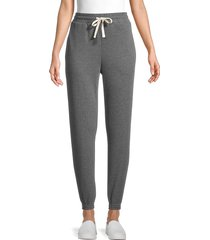 lea & viola women's tapered sweatpants - charcoal - size m