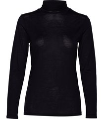 iralie roll neck ls top t-shirts & tops long-sleeved blauw andiata