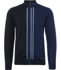 gabicci navy brighton knit track top v40gm15