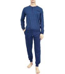 pastunette pyjama met boord en knoopjes