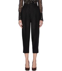 pleated crop suiting pants