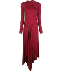 monse deconstructed cycling dress - red