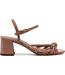 l'autre chose braided-strap leather sandals - pink