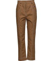 cotton workwear pan slimfit byxor stuprörsbyxor brun hilfiger collection