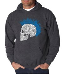 la pop art men's punk mohawk word art hooded sweatshirt