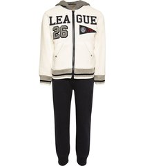 lapin house league cotton track suit set - white