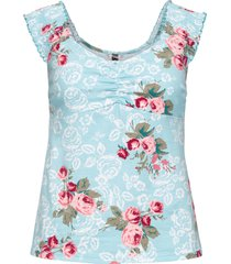 top in jersey a fiori (blu) - rainbow