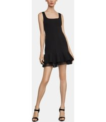 bcbgmaxazria crepe fit & flare dress