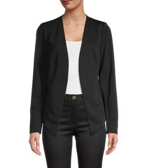 bcbgeneration women's tuxedo open-front blazer - black - size m