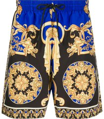 versace le pop classic swim shorts - black