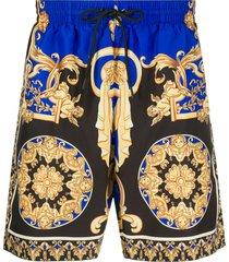 versace le pop classic swim shorts - black