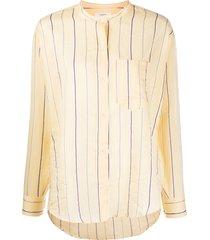 isabel marant étoile satchell striped shirt - yellow