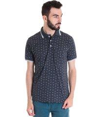 camisa polo masculina manga curta 33601 gola cinza