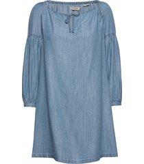 arizona peek a boo dress kort klänning blå superdry
