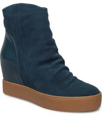 trish s shoes boots ankle boots ankle boot - heel blå shoe the bear