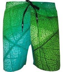 shorts alkary folhagem verde