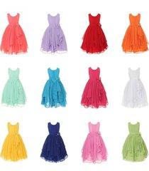 hot sell ! chiffon asymmetric ruffled flower girl dress bridal party dress