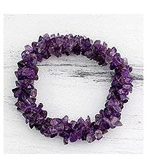 amethyst stretch bracelet, 'lilac muse' (india)