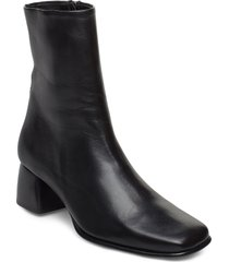 eileen leather boot shoes boots ankle boots ankle boot - heel svart filippa k