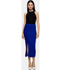 *cobalt blue ribbed knit midi skirt by topshop boutique - cobalt