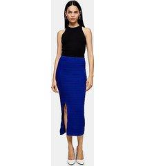 *cobalt blue ribbed knit midi skirt by topshop boutique - cobalt