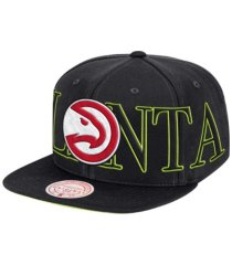 mitchell & ness atlanta hawks winners circle snapback cap