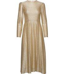 camille dress knälång klänning guld ida sjöstedt