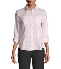 point-collar linen shirt