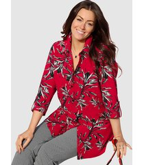 blouse m. collection rood::wit::zwart