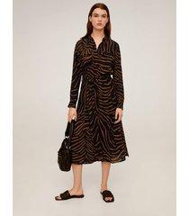 jurk met tijgerprint